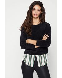 BCBGeneration - Velour Sweater Blouse - Lyst