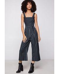 BCBGeneration Striped Culotte Jumpsuit - Blue