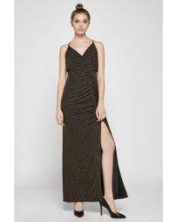 BCBGeneration - Metallic Jacquard Faux-wrap Dress - Lyst