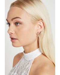 BCBGeneration - Pave Safety Pin Stud Earring - Lyst