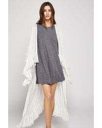 BCBGeneration - Striped High-low Coverup - Lyst
