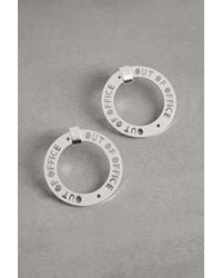BCBGeneration Out Of Office Hoop Earring - Metallic