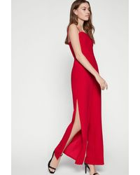 BCBGeneration Sleeveless Strappy Jumpsuit - Red