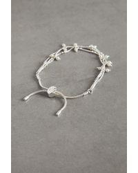 BCBGeneration Faux Pearl Pulley Bracelet - Metallic