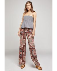 BCBGeneration - Paisley Hypnosis Flared Leg Pant - Lyst