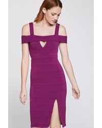 BCBGeneration Cocktail Off-the-shoulder Dress - Purple