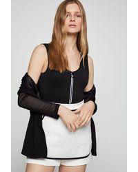 BCBGeneration Zip Front Bodysuit - Black