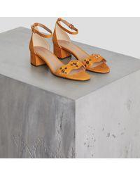 BCBGeneration Fifi Studded Microsuede Sandal - Multicolour