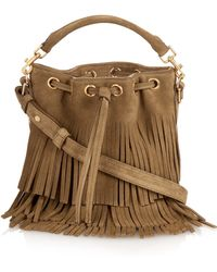 Saint Laurent - Emmanuelle Small Fringed Suede Cross-Body Bag - Lyst