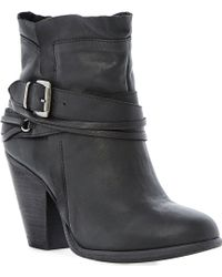 Steve Madden Raffa Buckle Trim Ankle Boots - Lyst