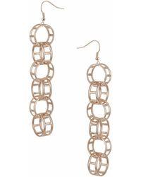 Topshop | Link Drop Earrings | Lyst