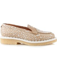 Purified - Bonny Python-Effect Leather Loafers - Lyst
