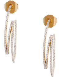 Rachel Zoe - Glitz 12K Gold Plated Ribbon Drop Earrings - Lyst