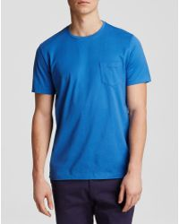 Bloomingdale's Pima Cotton Pocket Tee - Blue