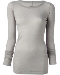 Rick Owens Fitted Top - Lyst