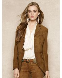 Ralph Lauren Blue Label Tissue-suede Jacket - Lyst