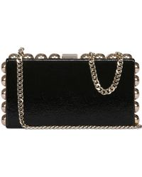 DSquared2 Studded Naplak Leather Clutch - Lyst