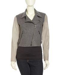 Sachin & Babi Asymmetrical Wool Moto Jacket - Lyst