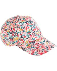J.Crew - Baseball Cap in Liberty Strawberry Thief Floral - Lyst
