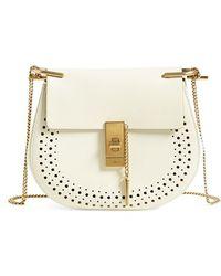 replica chloe wallet - Chlo�� Drew Mini Leather Cross-body Bag in White | Lyst
