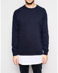 Asos Sweatshirt 2 Pack Save 17% green - Lyst