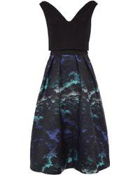 Coast Skye Jacquard Dress - Black