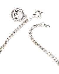 Giles & Brother - Horseshoe Lariat Necklace - Silver Ox - Lyst