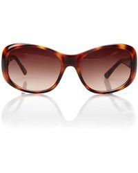 Cole Haan C639 Tortoiseshell Round Sunglasses brown - Lyst