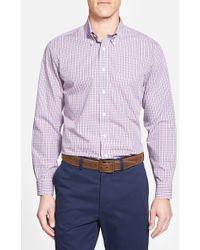 Brooks Brothers Regent Fit Plaid Sport Shirt pink - Lyst