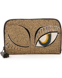 Antik Batik Embroidered Clutch with Wink  Gold - Lyst