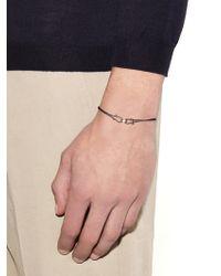 Zadeh Alexander Parachute-Cord And Rose-Gold Bracelet - Grey