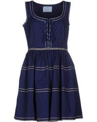 Prada Short Dress in Blue | Lyst