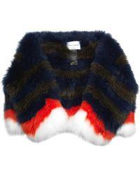 Sonia Rykiel Striped Fox-Fur Stole - Lyst