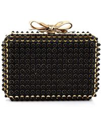 Christian Louboutin Fiocco Embellished Box Clutch - Lyst