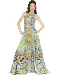 Emilio Pucci Printed Silk Chiffon Dress - Lyst