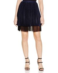 Timo Weiland Miriam Pleated Textured Skirt - Blue