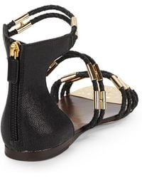 BCBGMAXAZRIA - Royale Braided Strappy Flat Sandals - Lyst