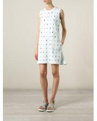 Kenzo Multi-Logo Cotton Dress - Lyst