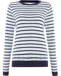 Linea Weekend 3 Colour Stripe Jumper - Lyst