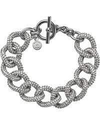 Michael Kors Pavé-embellished Silver-tone Chain-link Bracelet - Lyst