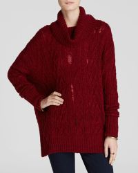 Free People Sweater - Complex Cable Turtleneck - Lyst