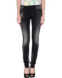 Diesel Denim Pants black - Lyst