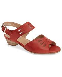Fidji 'V112' Perforated Leather Sandal red - Lyst