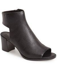 Kenneth Cole Women'S 'Shay' Open Toe Perforated Leather Bootie - Lyst