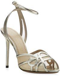 Charlotte Olympia Sugar High Leather Sandal - Lyst
