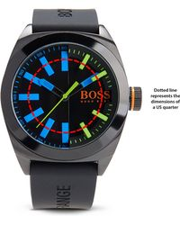 BOSS Orange - '1513053' | Silicone Strap 3-hand Quartz Contrast Dial London Watch - Lyst