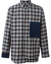 Golden Goose Deluxe Brand Long Sleeve Shirt gray - Lyst