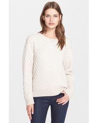 Autumn Cashmere Quilted Sweatshirt - White