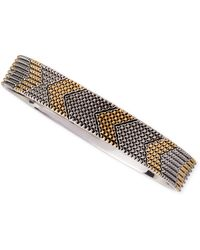 House of Harlow 1960 - Two-Tone Thin Arrow Bangle - Lyst