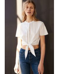 ALICE & UO | Betty Tie-front Cropped Top | Lyst